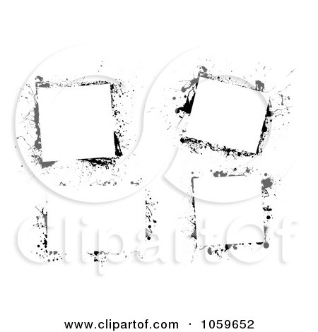 Royalty-Free Vector Clip Art Illustration of a Digital Collage Of Black And White Grunge Frames - 3 by michaeltravers