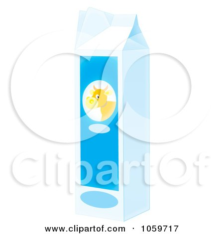 Royalty-Free Clip Art Illustration of an Airbrushed Carton Of Milk by Alex Bannykh
