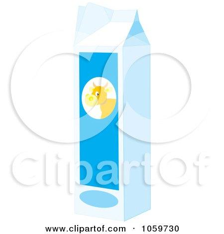 Royalty-Free Vector Clip Art Illustration of a Carton Of Milk by Alex Bannykh