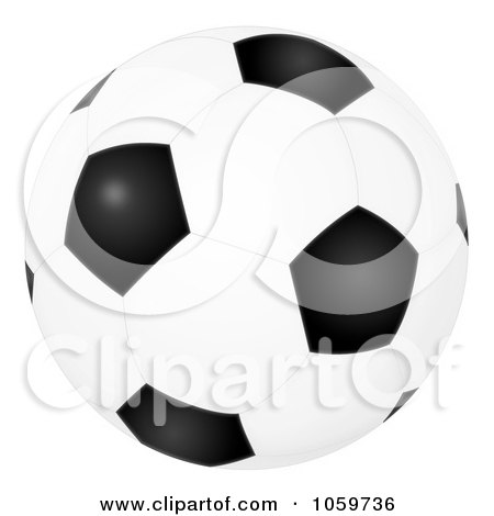 Royalty-Free Clip Art Illustration of an Airbrushed Soccer Ball by Alex Bannykh