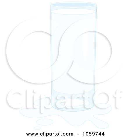 Royalty-Free Vector Clip Art Illustration of a Glass Of Milk With A Splash by Alex Bannykh