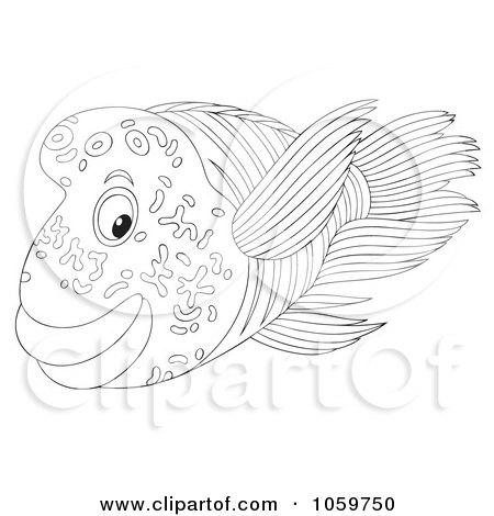 Seaweed Outline Royalty Free Rf Sketch Coloring Page