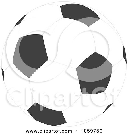 Royalty-Free Vector Clip Art Illustration of a Soccer Ball by Alex Bannykh