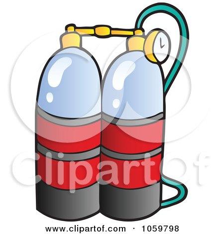 Royalty-Free Vector Clip Art Illustration of Scuba Diving Oxygen by visekart
