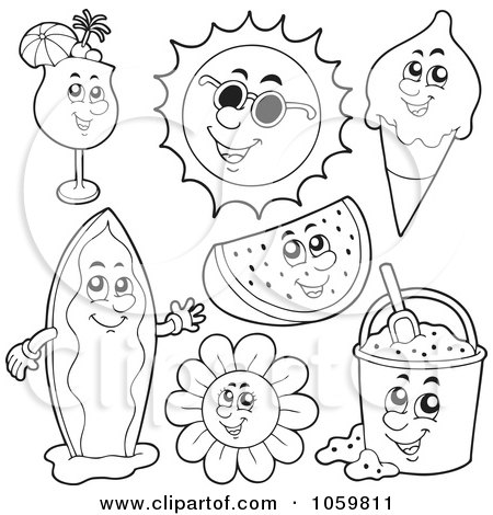 Gallery For gt Beach Clothes Coloring Pages