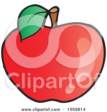 Royalty-Free Vector Clip Art Illustration of a Red Apple by visekart