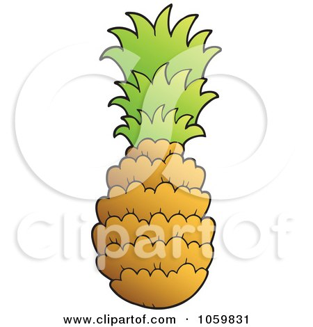 Royalty-Free Vector Clip Art Illustration of a Pineapple by visekart