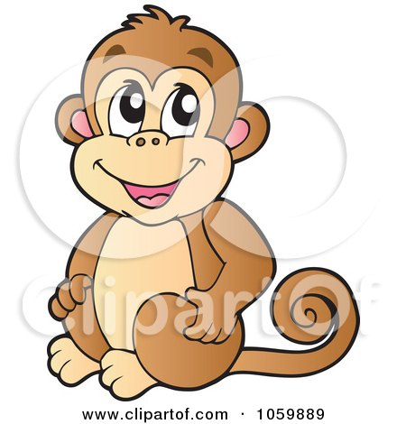 Free Baby Picture on Royalty Free Vector Clip Art Illustration Of A Cute Monkey By Visekart