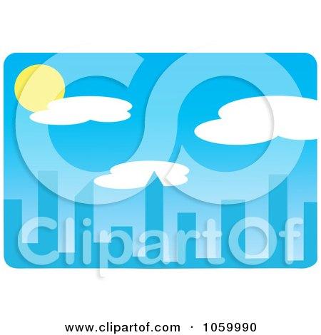 Royalty-Free Vector Clip Art Illustration of a Daytime Skyline by Rosie Piter