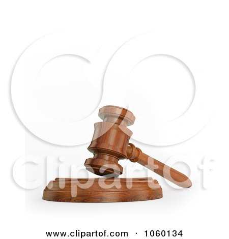 Royalty-Free CGI Clip Art Illustration of a 3d Gavel by Mopic