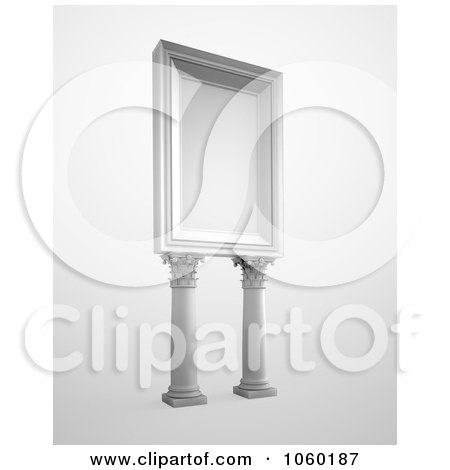 Royalty-Free CGI Clip Art Illustration of a 3d Billboard With Columns by Mopic