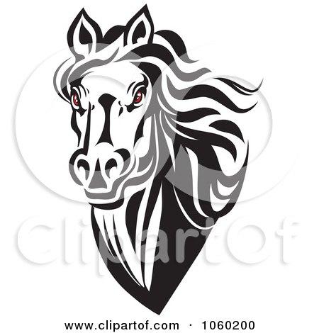 Angry Horse Head Logo Eyed Horse Head Logo 5