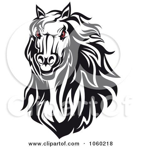 Angry Horse Head Logo Red Eyed Horse Head Logo 4
