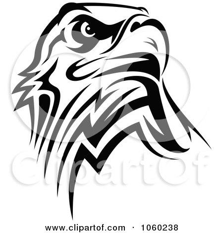 Eagle black and white logo - photo#14