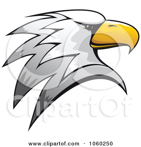 Royalty-Free Vector Clip Art Illustration of an Eagle Head Logo - 3 by Vector Tradition SM
