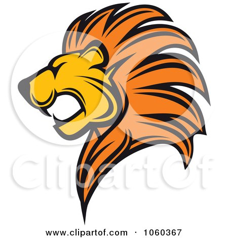 Royalty-Free Vector Clip Art Illustration of a Lion Logo by Vector Tradition SM