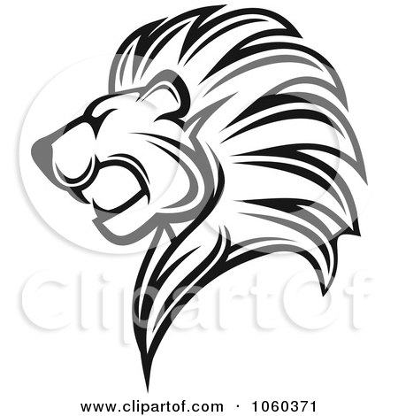 Royalty free vector clip art illustration of a black and for Merlion tattoo images