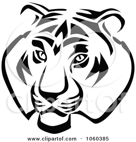 Royalty-Free Vector Clip Art Illustration of a Tiger Head Logo - 1 by Vector Tradition SM