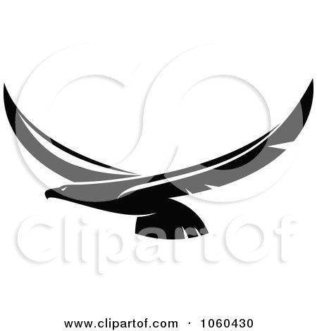 Black and white flying eagle logo 7 by seamartini graphics