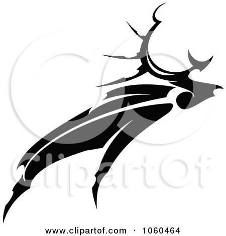 Royalty-Free Vector Clip Art Illustration of a Black And White Moose Logo - 2 by Vector Tradition SM