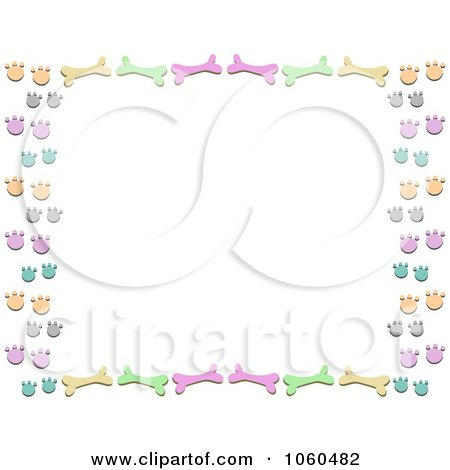 Royalty-Free Vector Clip Art Illustration of a Dog Bone And Paw ...