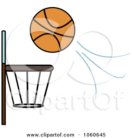 Ball Flying Towards A Basketball Hoop Posters, Art Prints