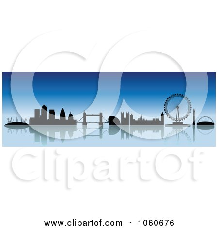 Royalty Free Vector Clip Art Illustration of a London Skyline Banner - 1 by cidepix