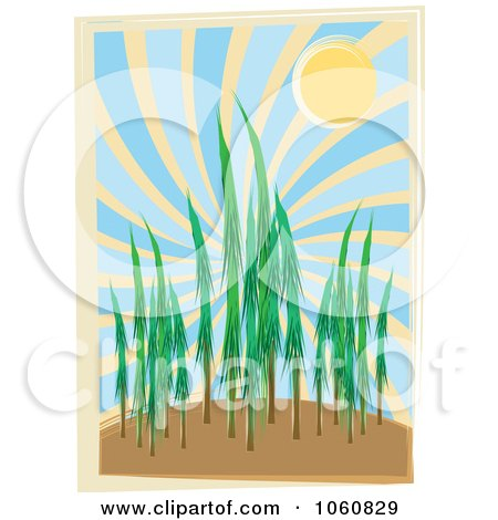 Royalty-Free Vector Clip Art Illustration of a Forest During The Day by mheld