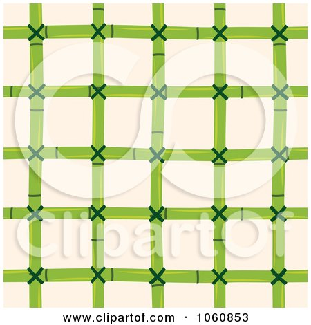Royalty-Free Vector Clip Art Illustration of a Bamboo Pattern Over Beige by Cherie Reve
