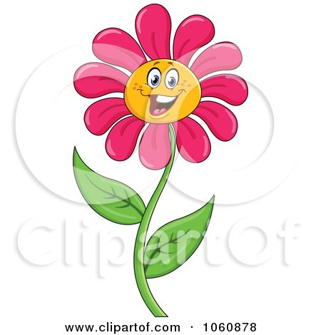 Royalty Free Rf Pink Daisy Flower Clipart Illustrations