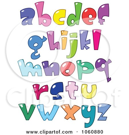 Royalty-Free Vector Clip Art Illustration of a Digital Collage Of Bubble Letters - Lowercase by yayayoyo
