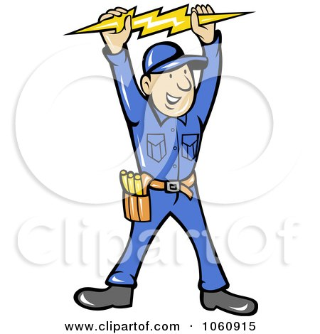 royalty free vector clip art illustration of an electrician holding rh clipartof com electrician clip art images electrician clip art images