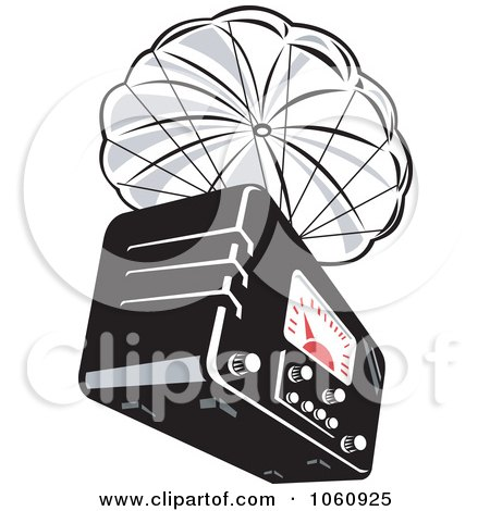 Clipart Of A Retro Woodcut Yellow And Brown Male Ham Radio