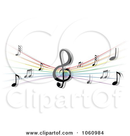Royalty-Free Vector Clip Art Illustration of a Stave And Music Notes - 3 by Vector Tradition SM