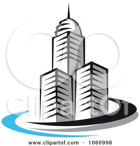 Royalty-Free Vector Clip Art Illustration of a Skyscraper Logo - 6 by Vector Tradition SM