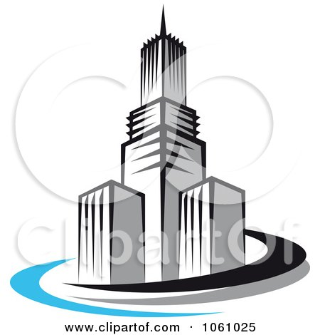 royalty free vector clip art illustration of a skyscraper logo 4 rh clipartof com  skyscraper clipart free