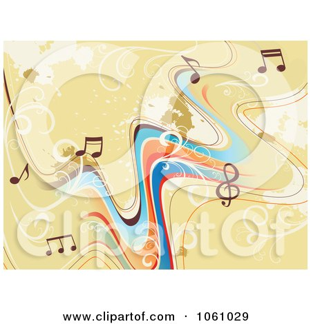 music staff clipart. Royalty-Free Vector Clip Art