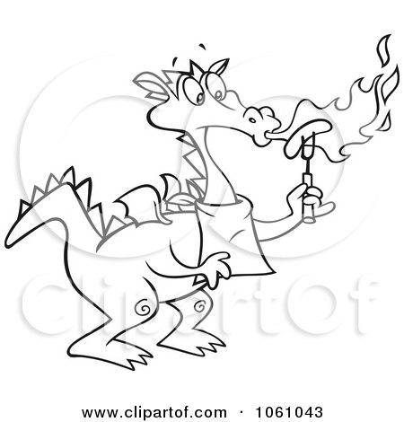 Dragon Roasting Hot Dogs