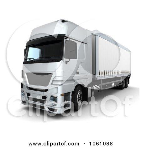 3d Euro Truck Big Rig - Royalty Free CGI Clip Art Illustration by KJ Pargeter