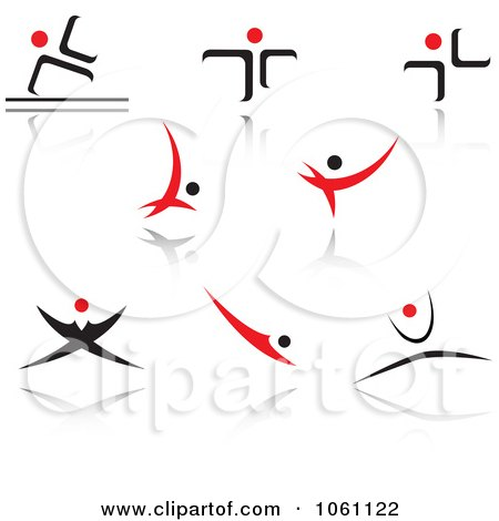 Royalty-Free Vector Clip Art Illustration of a Digital Collage Of Red And Black Logo Designs - 9 by Vector Tradition SM