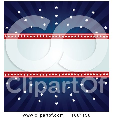 Clipart Independence Day Background Of Stars And Copyspace - Royalty Free Heroine Vector Illustration by Pushkin