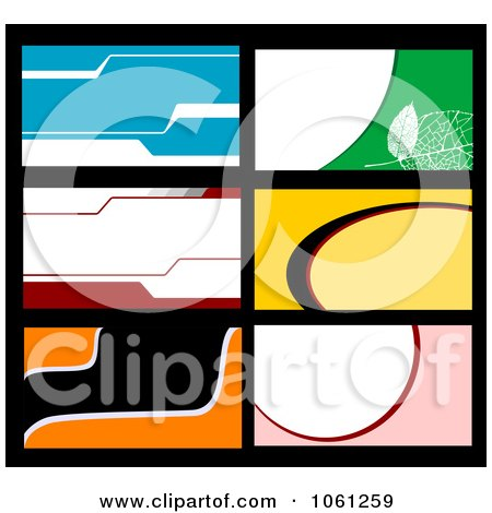 Royalty-Free Vector Clip Art Illustration of a Digital Collage Of Business Card Or Background Designs - 4 by Vector Tradition SM