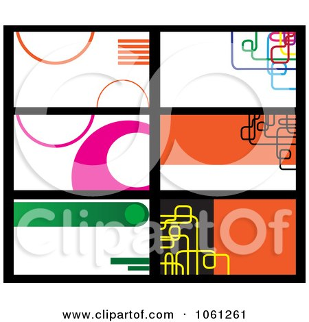 Royalty free rf clipart of company business cards for Clipart for business cards