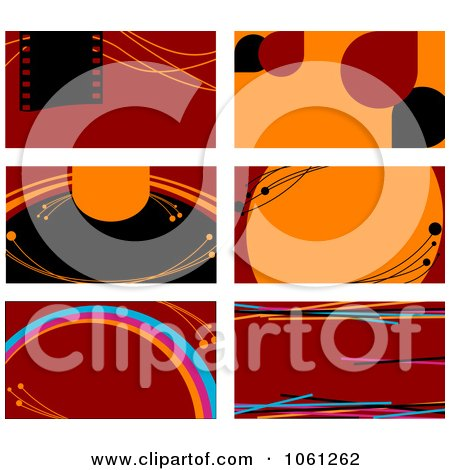 Royalty-Free Vector Clip Art Illustration of a Digital Collage Of Business Card Or Background Designs - 20 by Vector Tradition SM