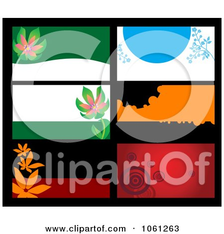 Royalty-Free Vector Clip Art Illustration of a Digital Collage Of Business Card Or Background Designs - 15 by Vector Tradition SM