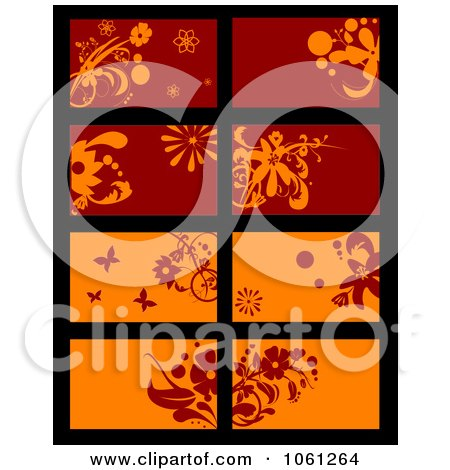 Royalty-Free Vector Clip Art Illustration of a Digital Collage Of Business Card Or Background Designs - 19 by Vector Tradition SM