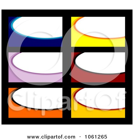 Royalty-Free Vector Clip Art Illustration of a Digital Collage Of Business Card Or Background Designs - 2 by Vector Tradition SM