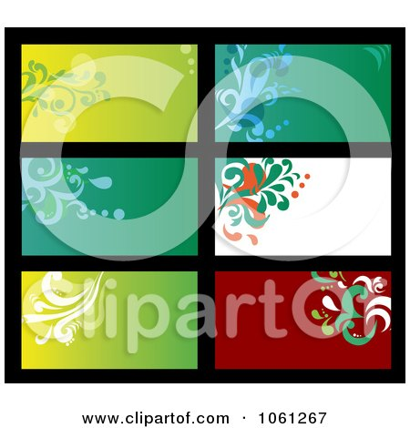 Royalty-Free Vector Clip Art Illustration of a Digital Collage Of Business Card Or Background Designs - 17 by Vector Tradition SM