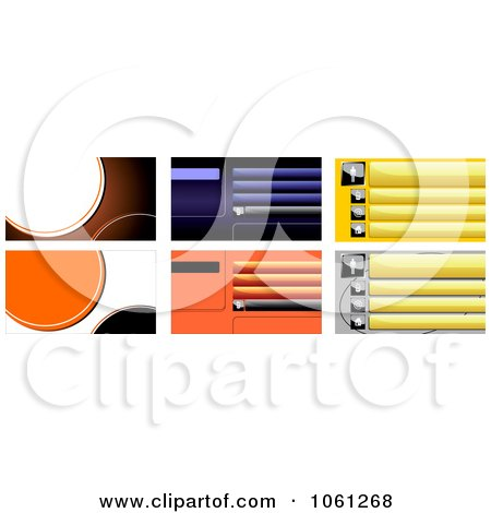 Royalty-Free Vector Clip Art Illustration of a Digital Collage Of Business Card Or Background Designs - 6 by Vector Tradition SM