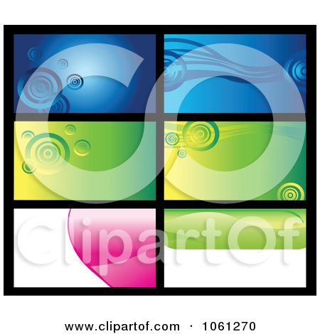 Royalty-Free Vector Clip Art Illustration of a Digital Collage Of Business Card Or Background Designs - 11 by Vector Tradition SM